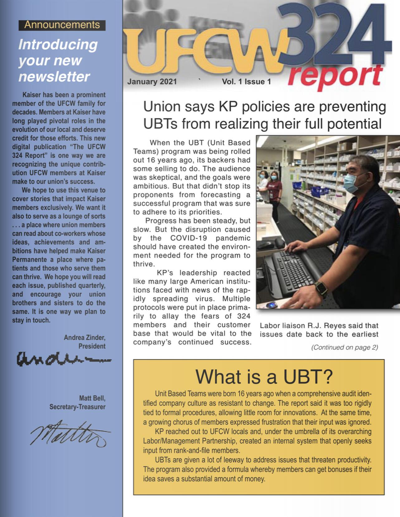 UFCW 324 Newsletter