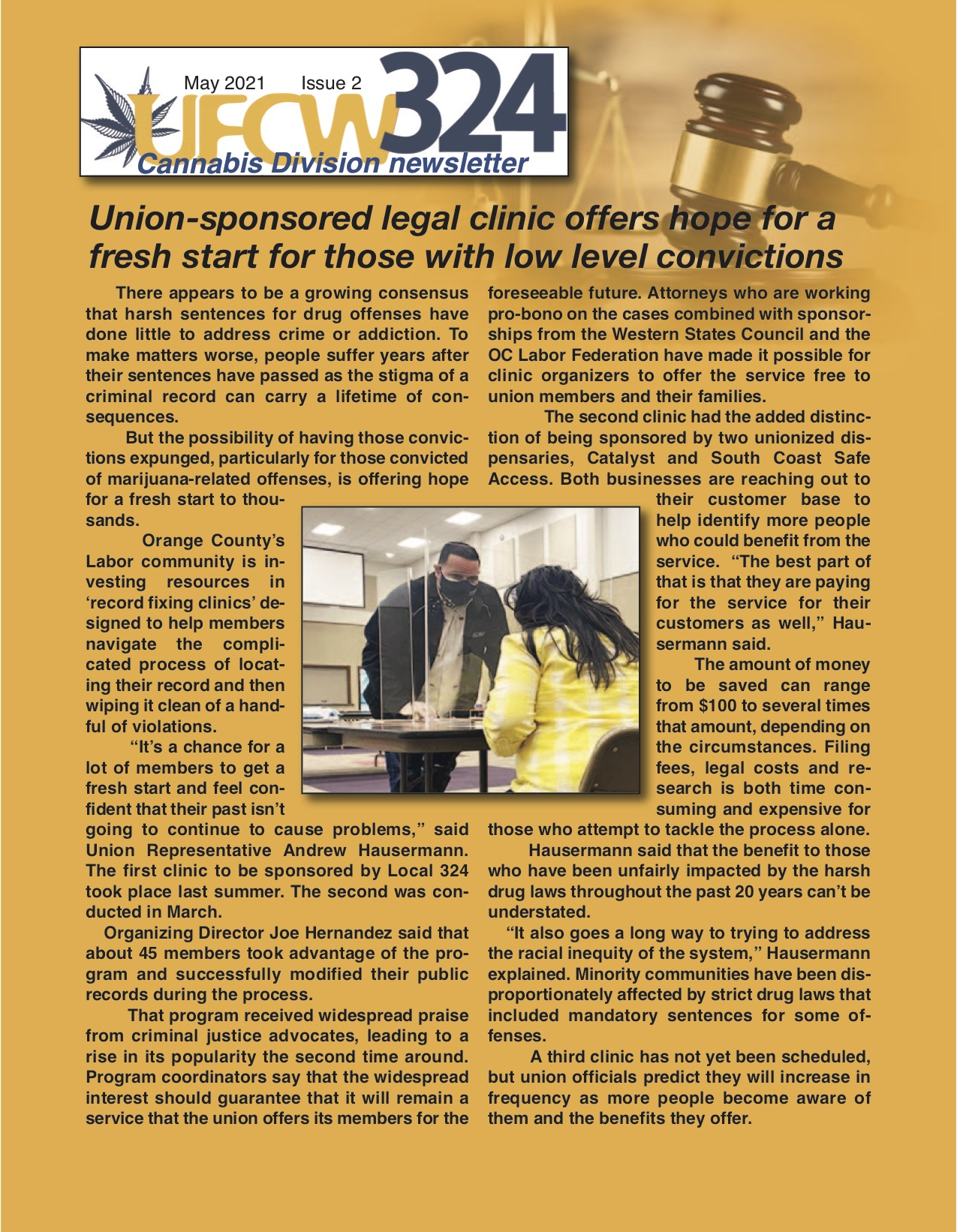 UFCW 324 Newsletter- Cannabis Division Vol. 1 – Iss. 2