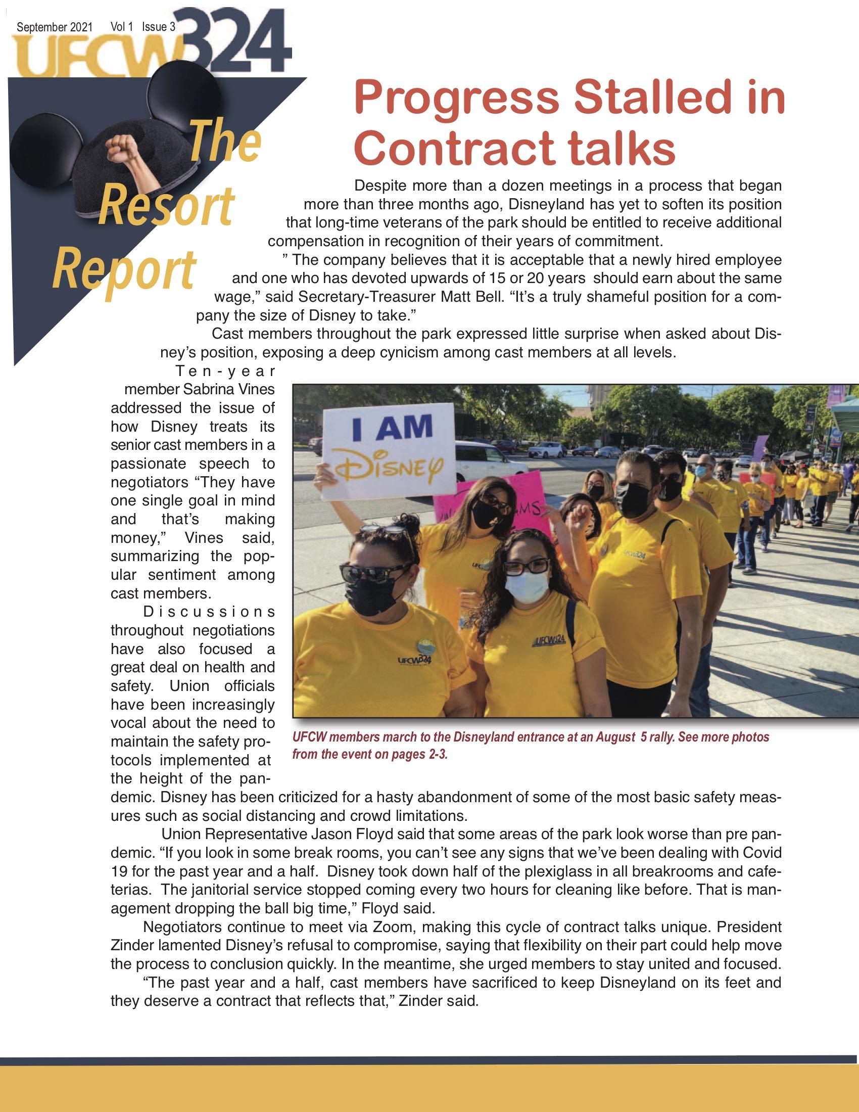 UFCW 324 Newsletter- Disney V1-I3